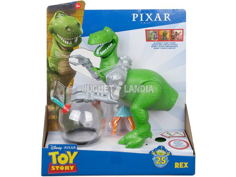 Toy Story 25 Aniversário Rex com Capacete Mattel GJH50