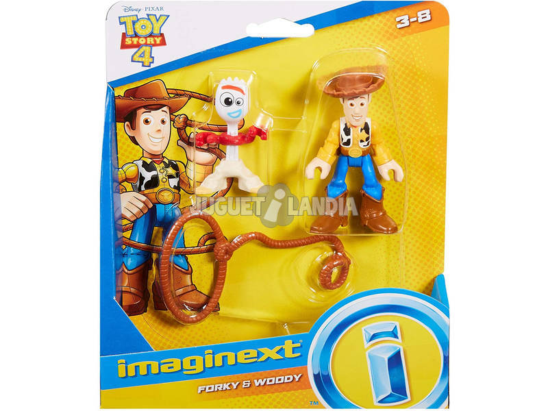 Imaginext Toy Story Figuras Woody y Forky Mattel GBG90