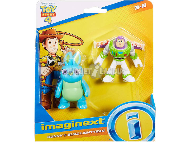 Imaginext Toy Story Figuras Buzz Lightyear y Bunny Mattel GBG91