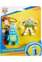 Imaginext Toy Story Figure Buzz Lightyear e Bunny Mattel GBG91