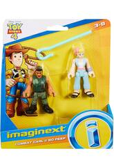 Imaginext Toy Story Figurines Soldat Carl et Bo Beep Mattel GFD13