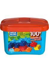 Mega Bloks Cubo Blu 100 Pezzi Mattel GJD21