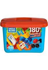 Mega Bloks Cubo Azul 180 Peças Mattel GJD22
