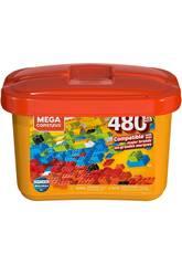 Mega Construx Builders Cubo Arancione 480 Pezzi Mattel GJD23