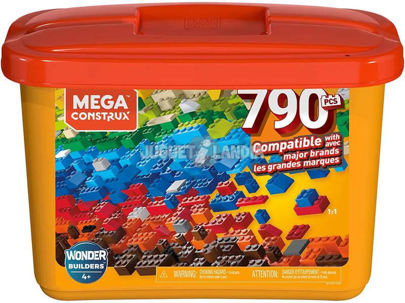 Mega Construx Builders Cubo Naranja 790 Piezas Mattel GJD24