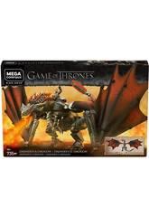 Jogo de Tronos Mega Construx Daenerys e Drogon Mattel GKG97
