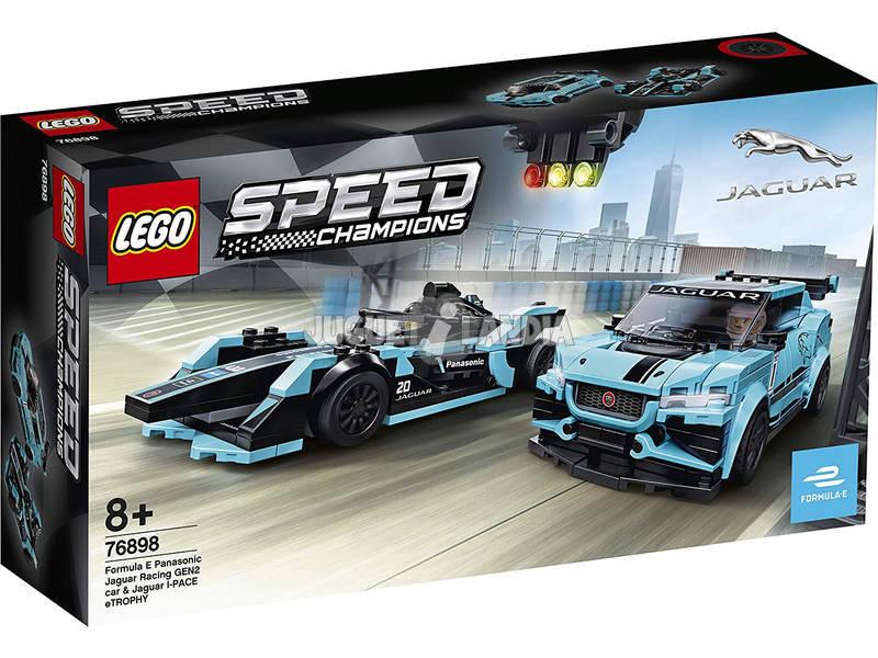 Lego Speed Champions Formula E Panasonic Jaguar Racing Gen2 Car and Jag 76898