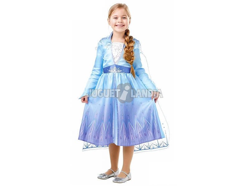 Déguisement Fille La Reine des Neiges 2 Elsa Travel Classic Taille M Rubies 300284-M