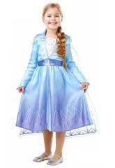 Déguisement Fille La Reine des Neiges 2 Elsa Travel Classic Taille XL Rubies 300284-XL