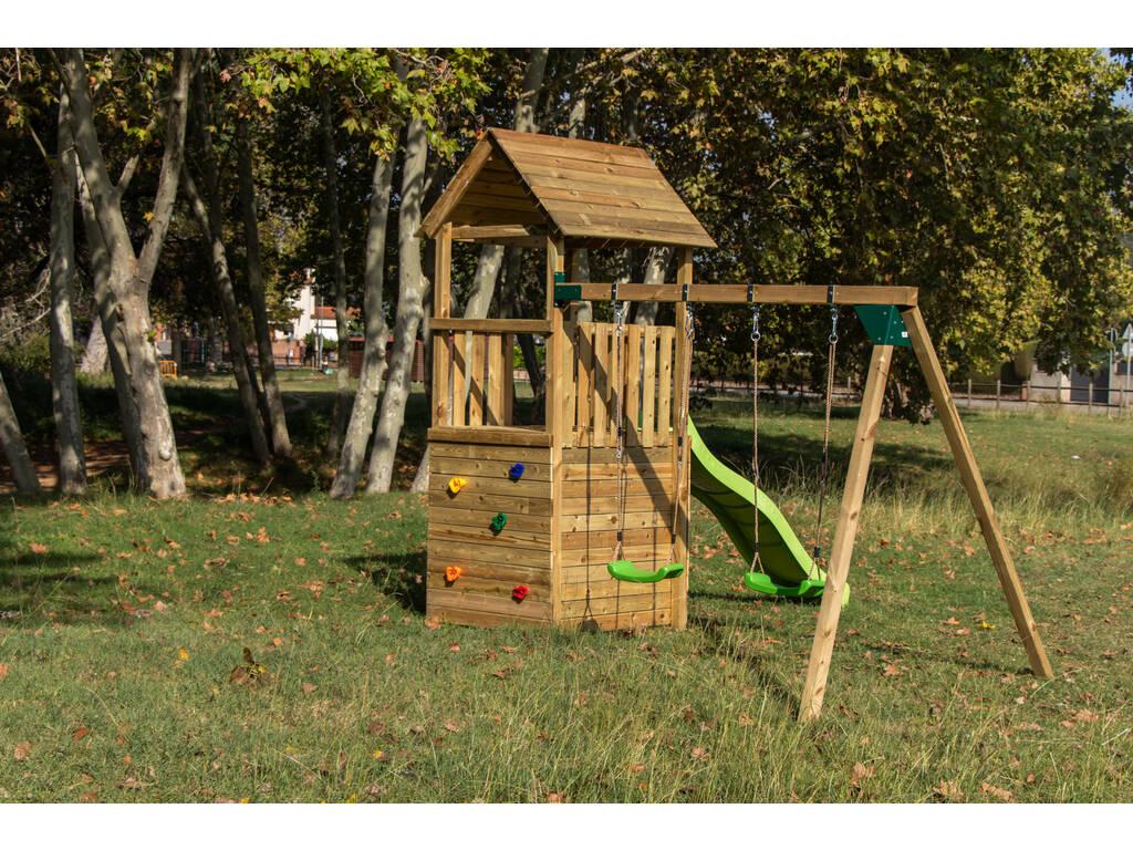 Parque Infantil Canigo con Caseta y Columpio Doble Masgames MA700205