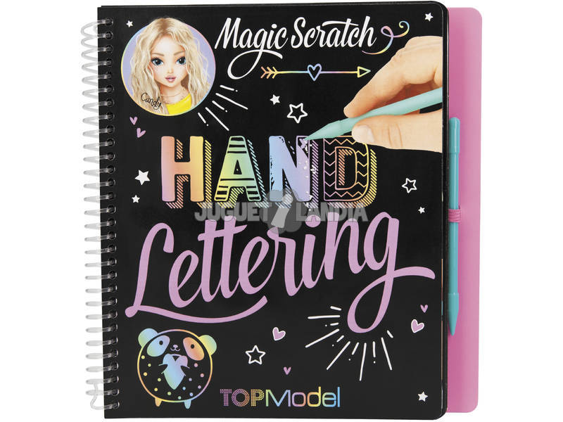 TopModel Magic Scratch Book H and Lettering 11113