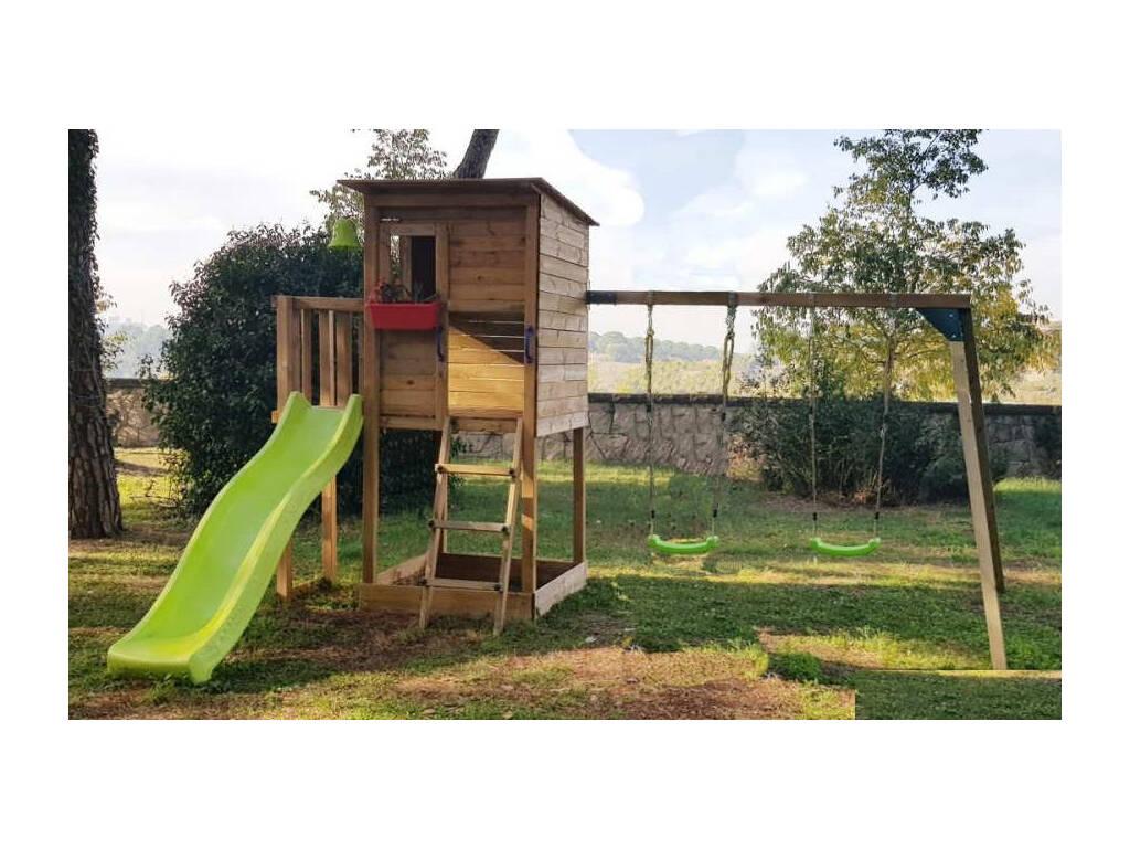 Parque Infantil Taga con Columpio Doble Masgames MA700305