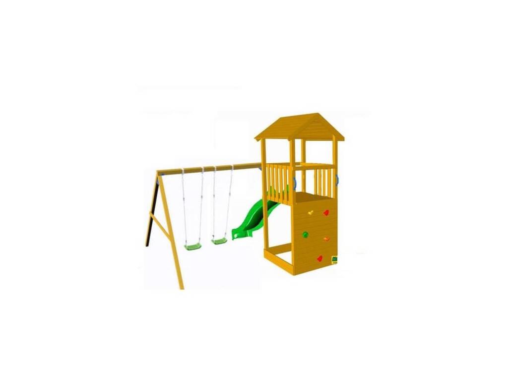 Parque Infantil Taga Escalada con Columpio Doble Masgames MA700365
