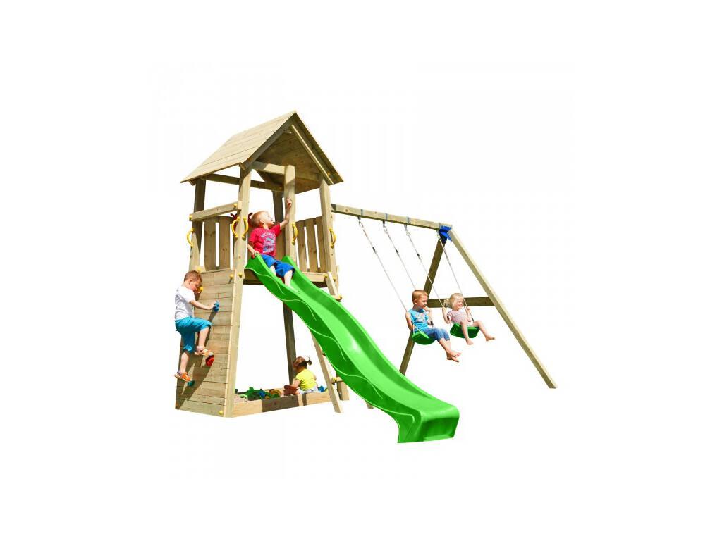 Parque Infantil Belvedere XL con Columpio Doble Masgames MA821401
