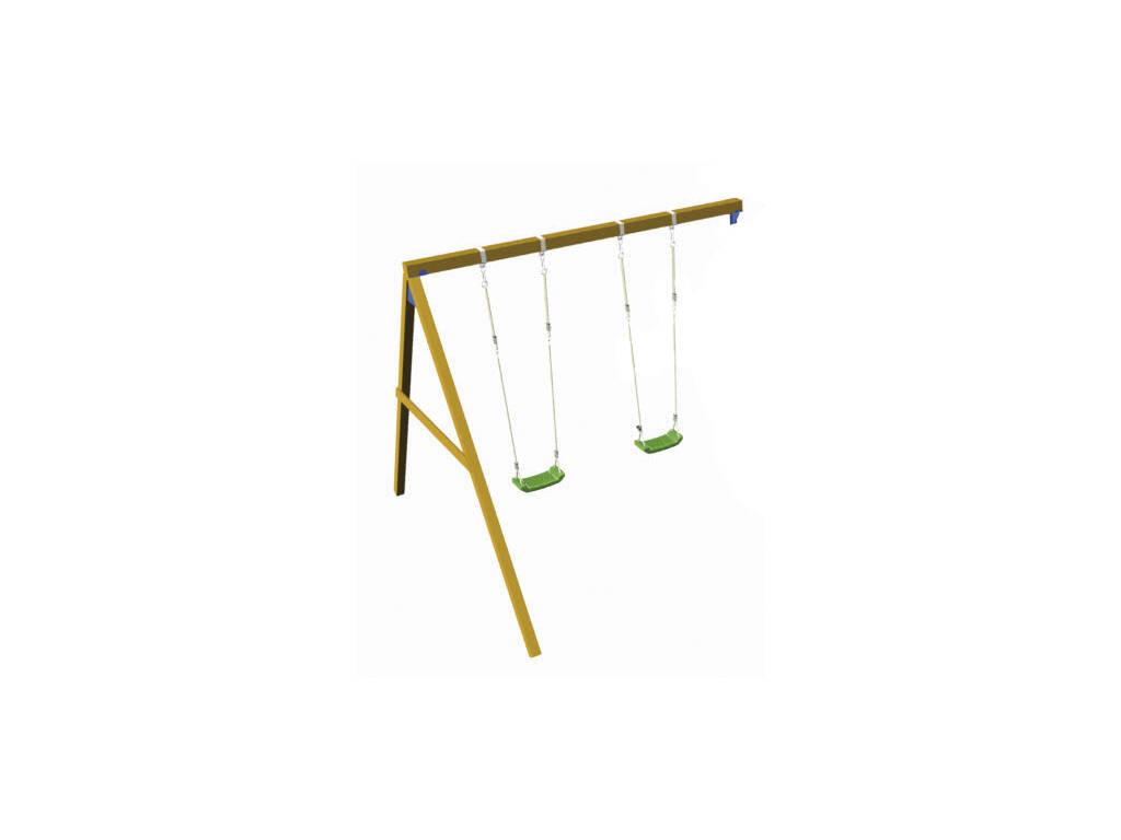 Double Balançoire Soutenue para pour Aire de Jeux de 120 cm. Masgames MA700150