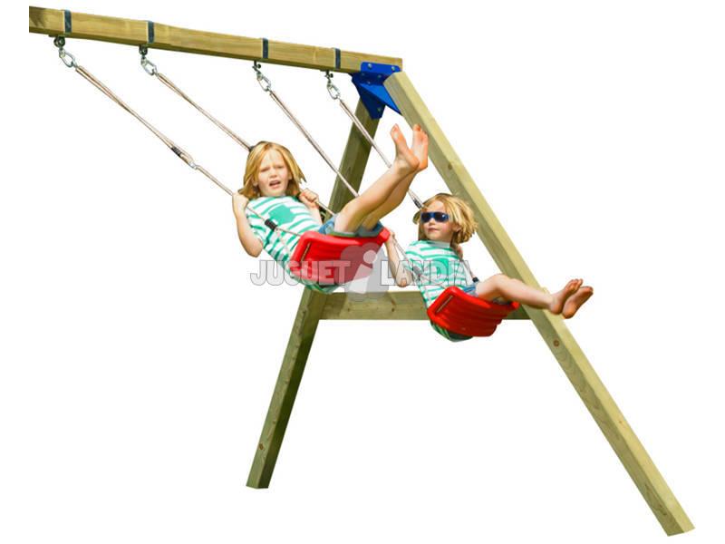 Balançoire soutenue pour Aire de Jeux Tour Belvedere 150 cm. Masgames MA803601