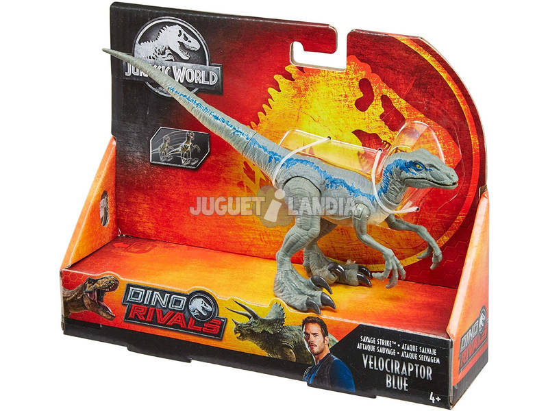 Jurassic World Velociraptor Blue Ataque Salvaje Mattel GCR55