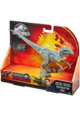 Jurassic World Velociraptor Blue Attacco Selvaggio Mattel GCR55