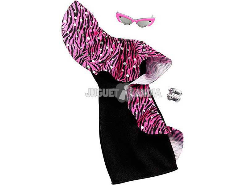 Conjunto Barbie Moda Look Vestido de Noche Mattel GHW78