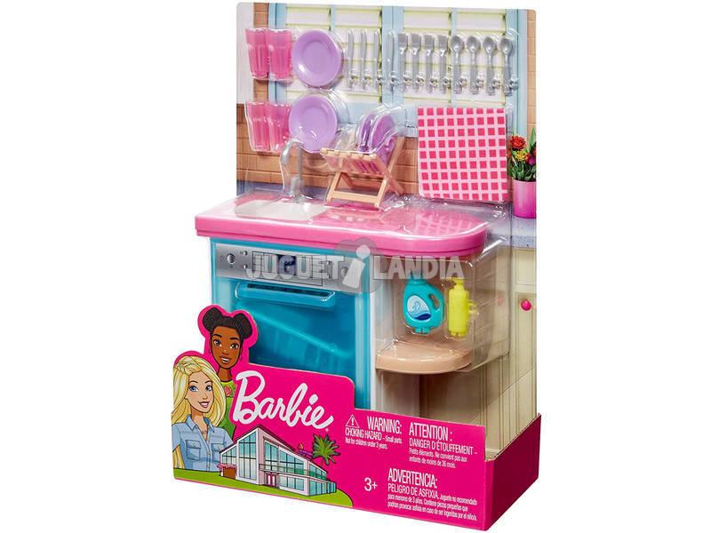 Barbie Muebles Interior Fregadero de Cocina Mattel FXG35