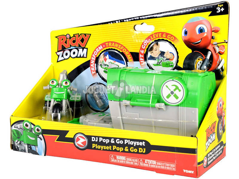 Ricky Zoom Push Pop Playset Bizak 3069 0030