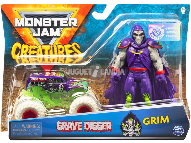 Monster Jam Creatures 1:64 Diecast avec Figurine Bizak 6192 5879