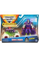 Monster Jam Creatures 1:64 Diecast com Figura Bizak 6192 5879