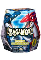 Dragamonz Super Series Pack Básico Sorpresa 1 Dragón y 6 Cartas TCG Bizak 6192 6902