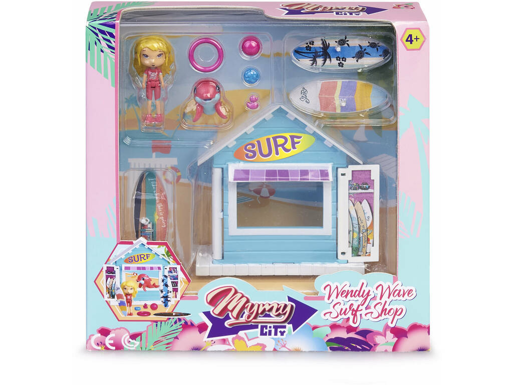 Mimy City Set Tienda De Surf Con Figura Wendy Wave Famosa 700015596