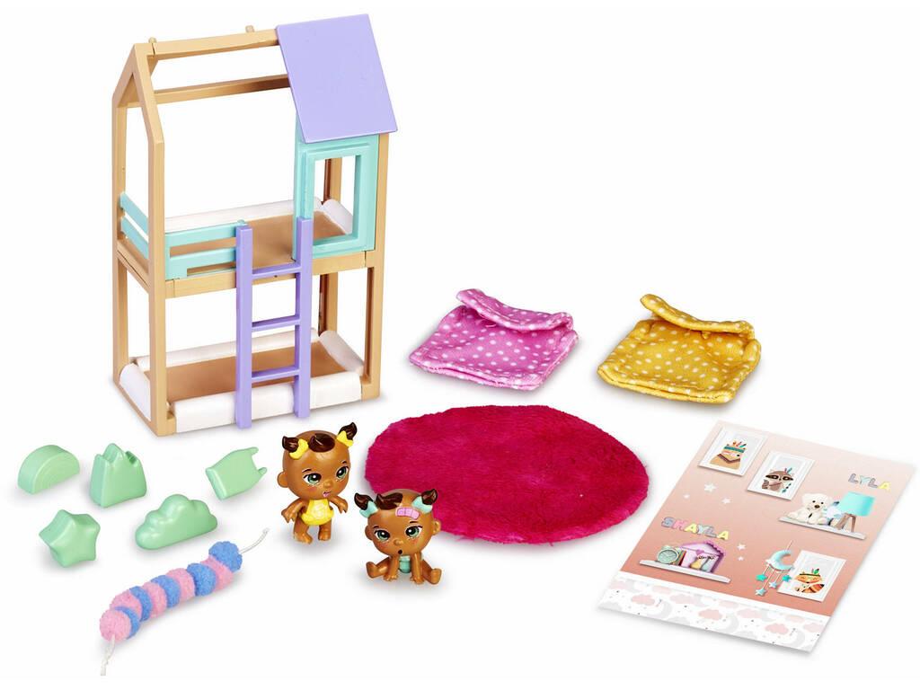 Mimy City Litera Bebés Con Figuras Shayla y Lyla Famosa 700015597