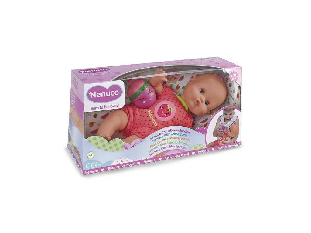 Nenuco avec Biberon Hochet Rose Famosa 700014920