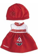Nenuco Petits Vêtements Décontractés 35 cm. Robe Rouge Famosa 700013822