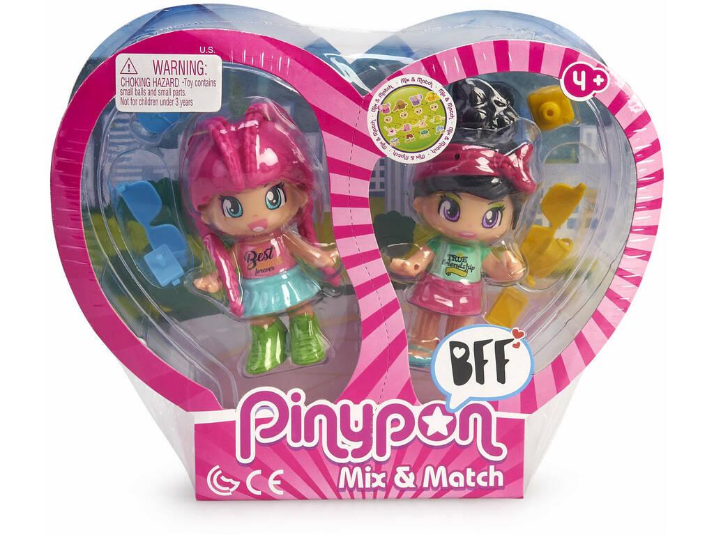 Pin y Pon Best Friends 2 Pelo Rosa y Pelo Negro Famosa 700015572