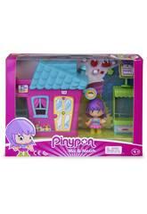 Pinypon Mini Pinkfarbenes Haus mit Figur von Famosa 700015606