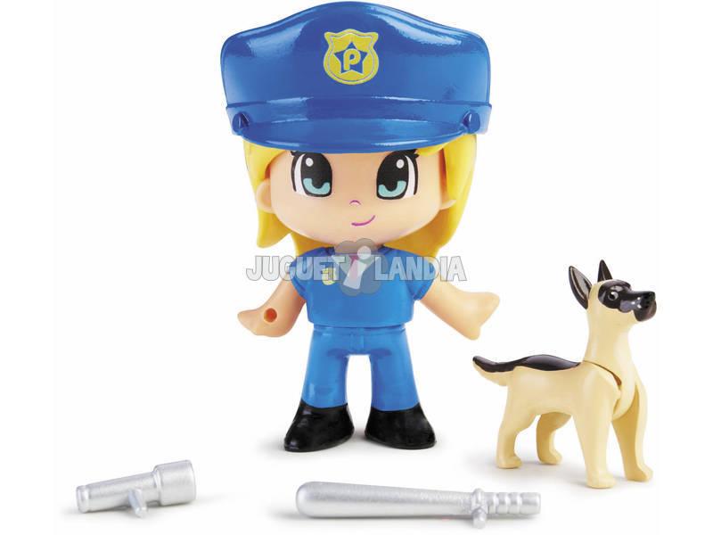Pinypon Action Figurine Policier avec un Berger Allemand Famosa 700015151