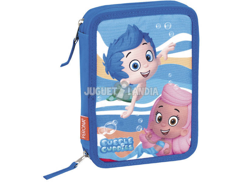 Plumier Doble 30 Piezas Bubble Guppies Wave Montichelvo 52447