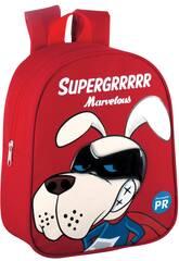 Mochila Guardería Supergrrrrr Marvelous Roja Montichelvo 57046