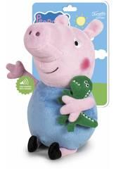 Peluche Peppa Pig George 27 cm. con Sonido Famosa 760018704