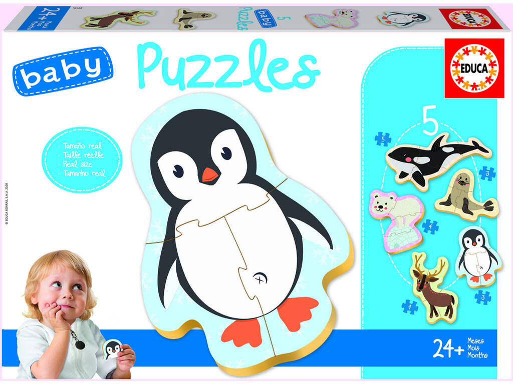 Baby Puzzle Animaux Pôle Nord Educa 18588