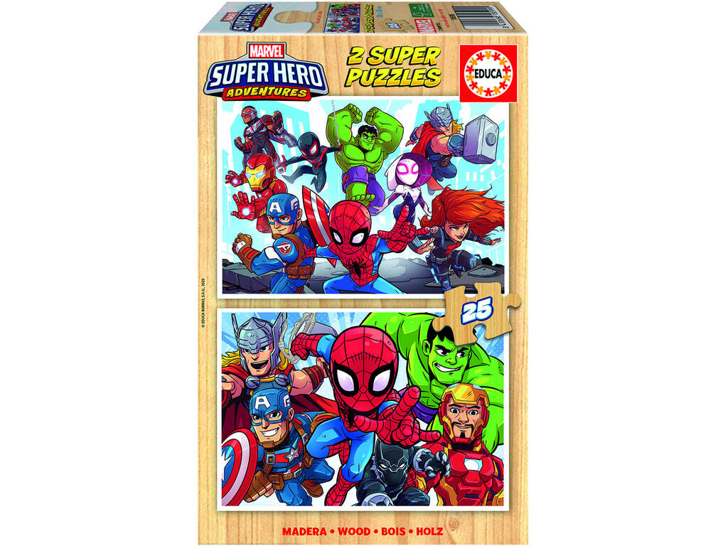 Puzzle 2X25 Marvel Super Heroe Adventures Educa 18599