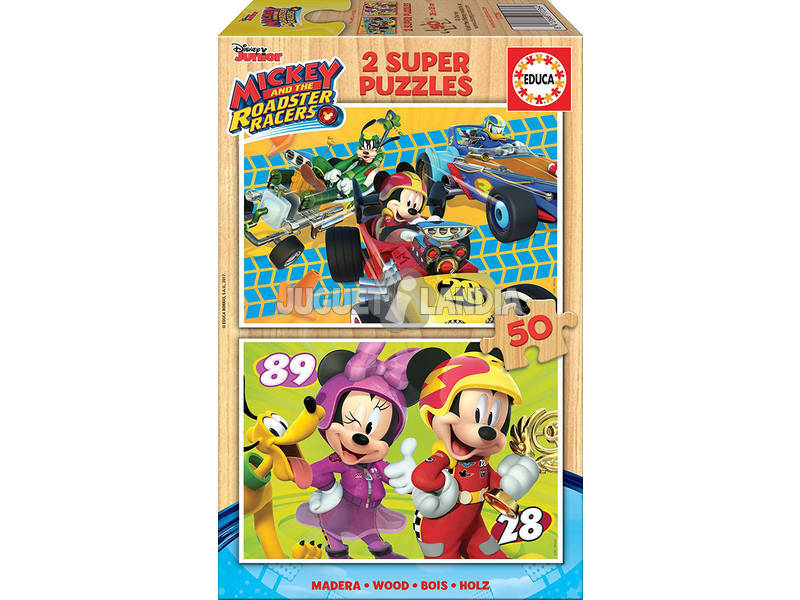 Puzzle 2x50 Mickey And The Roaster Racers Educa 17236