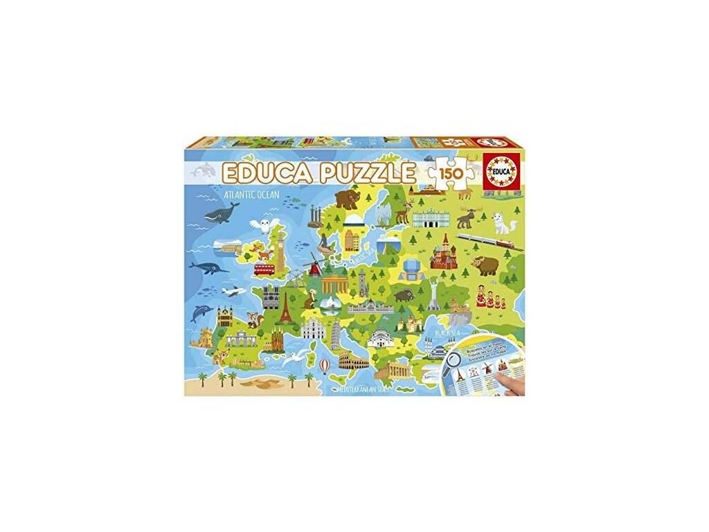 Puzzle 150 Mapa Europa Educa 18607