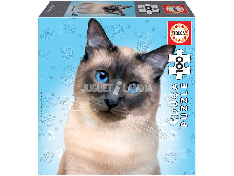 Puzzle Junior 100 Gato Siamese Educa 18806