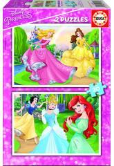 Puzzle 2X20 Princesas Disney Educa 16846