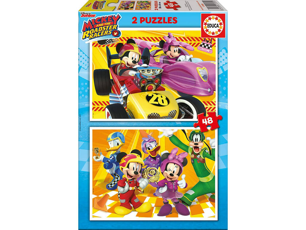 Puzzle 2X48 Mickey Roadster Racers Educa 17239