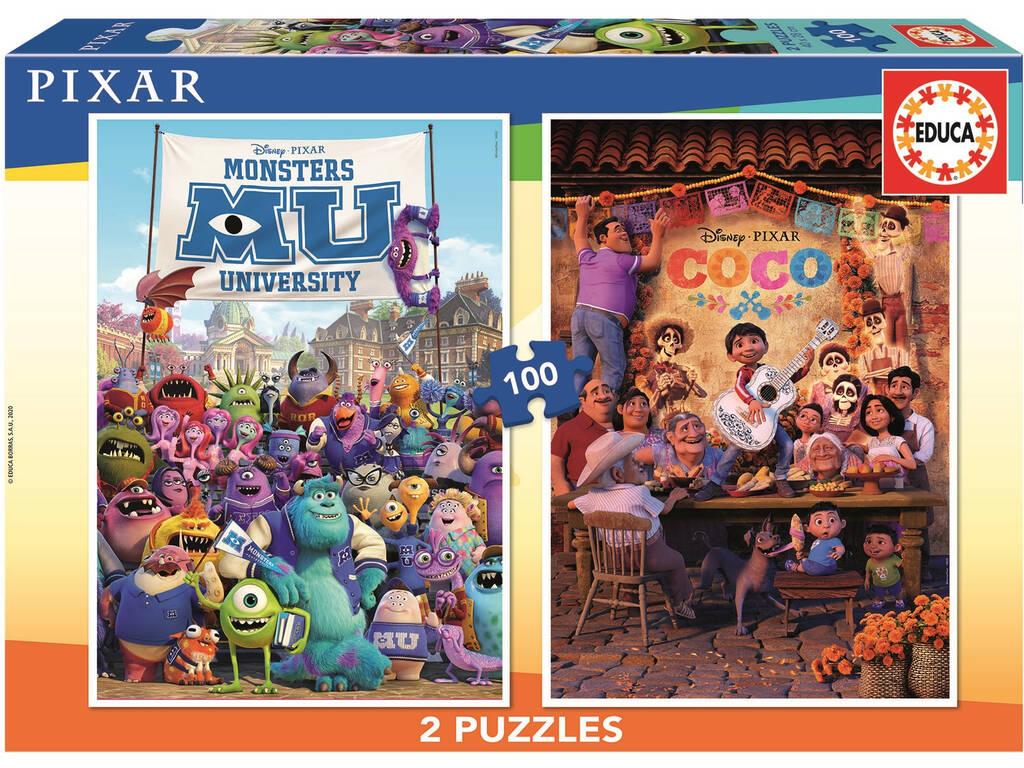 Puzzle 2x100 Pixar Educa 18635