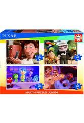 Puzzle Multi 4 Junior Disney Pixar 20-40-60-80 Educa 18625