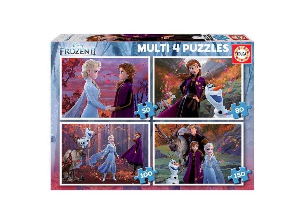 Puzzle Multi 4 50-80-100-150 Frozen 2 Educa 18640