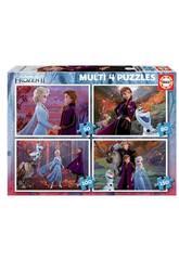 Puzzle Multi 4 50-80-100-150 Frozen 2 Educa 18640