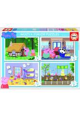 Puzzle Multi 4 Junior Peppa Pig 20-40-60-80 Educa 18645
